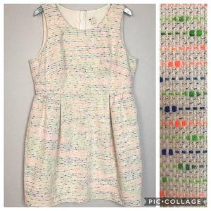 J.CREW multicolor tweed a line dress